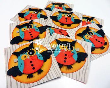 Halloween owl squares