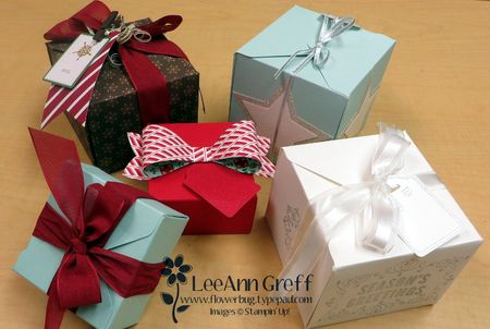 Gift box punch board xmas boxes