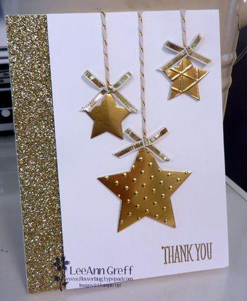 Gold stars card.