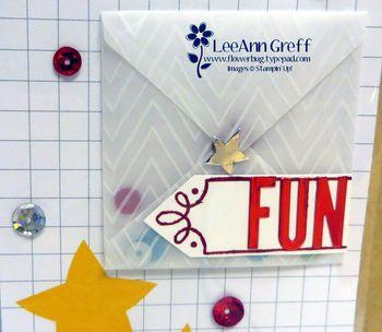 Vellum envelope