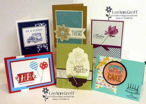 Feb Occasions stamp a stack.