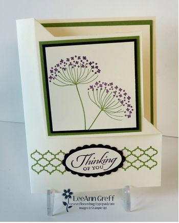 Folded corner card Summer Silhouettes