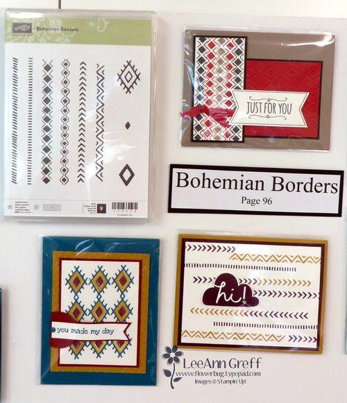 Bohemian Borders cards board