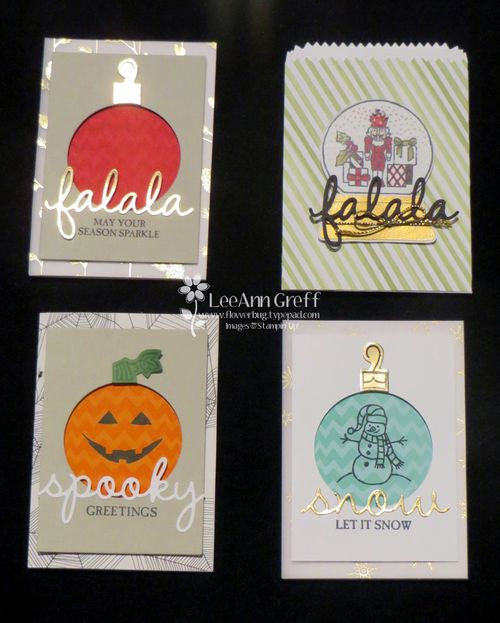 Sparkly Seasons cards