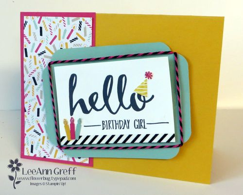 Hello & It's My Party with twine frame