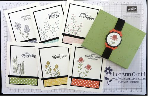 Flowering Fields cards & A2 box