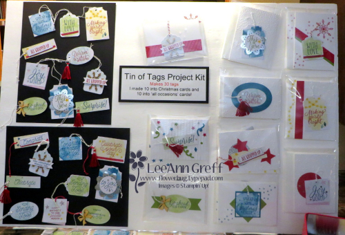Tin of Tags kit & cards