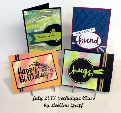July 2017 Technique cards