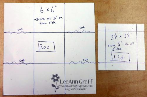 Sept box card template