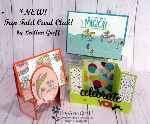 January Fun Fold cards