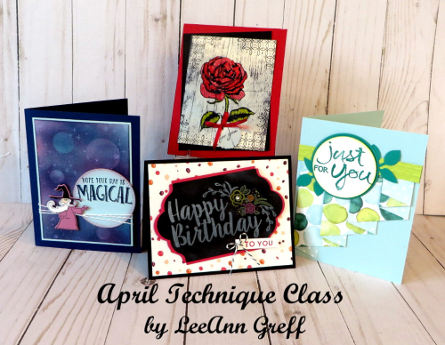 April Technique Class cards