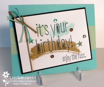 Birthday work of art card
