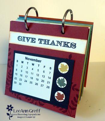 Coaster calendar November