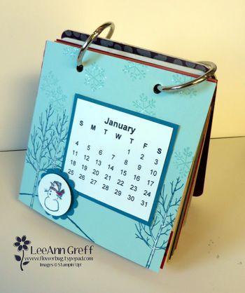 Coaster calendar Jan