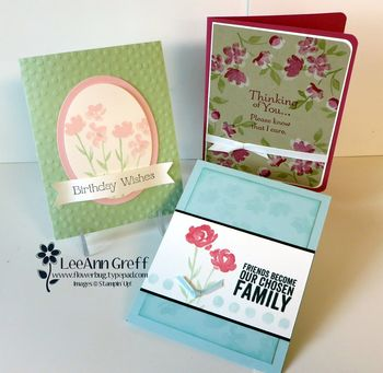 Painted Petals cards