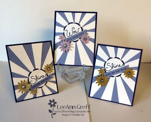 April Club Sunburst cards