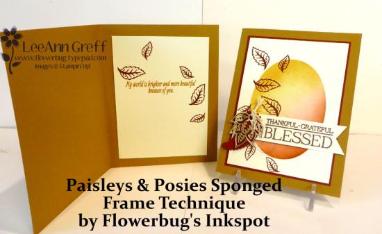 September Paisley's Sponged frame