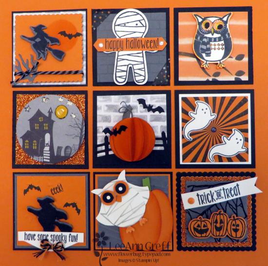 Halloween sampler close up