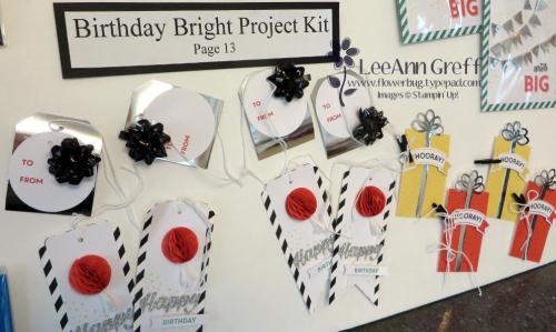 Birthday Bright tags