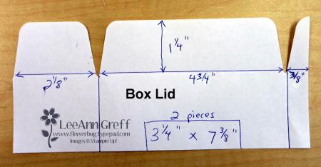 Gift Bag punch board box lid