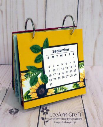 Coaster calendar Sept page