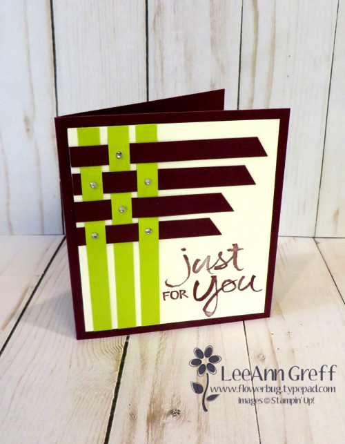 In Color Strips square card