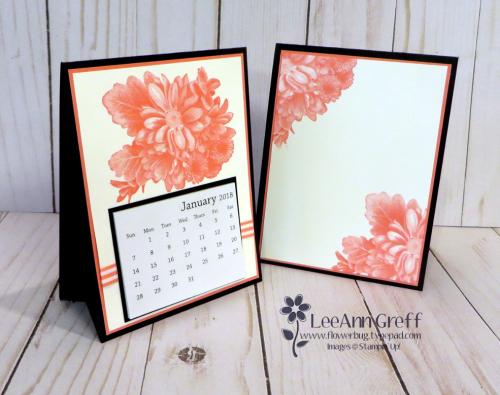 Heartfelt Blooms Easel calendar