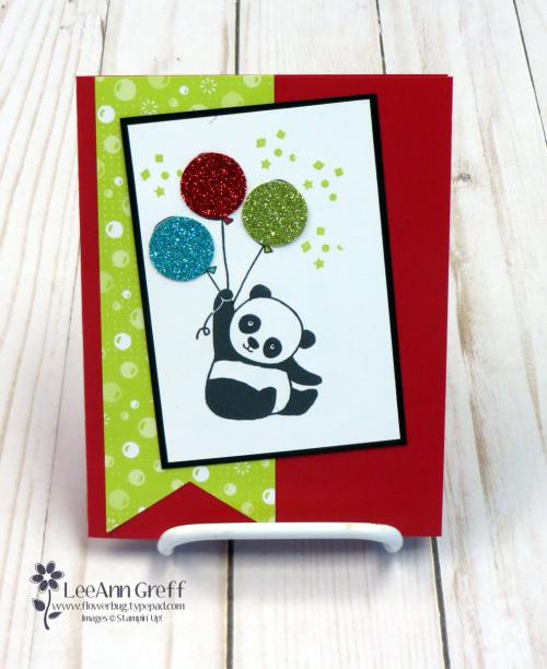 Happy Pandas w balloons