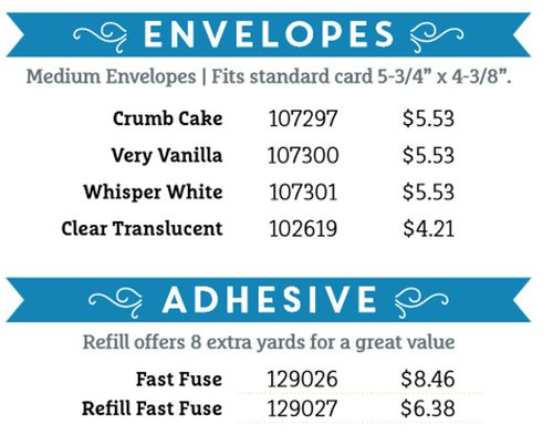 Stock up and save envelopes
