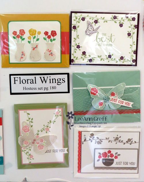 Floral Wings cards board.