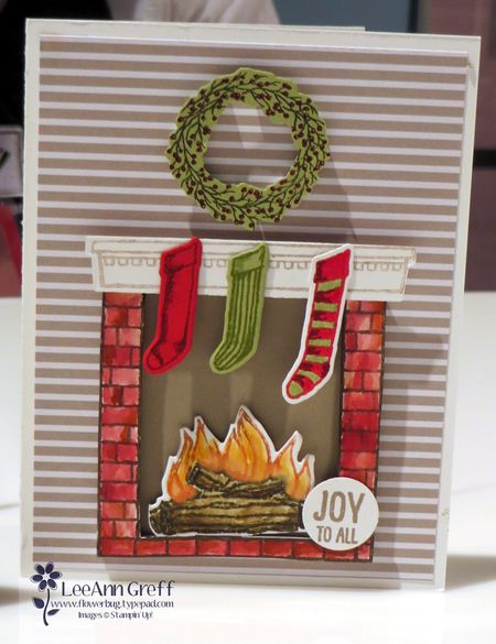 Happy Scenes Fireplace card