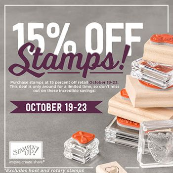 Save 15% stamps