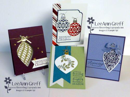 Embellished Ornaments cards
