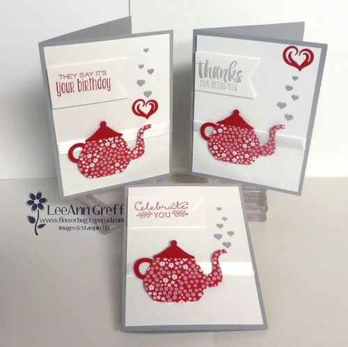 A Nice Cuppa Teapot cards.