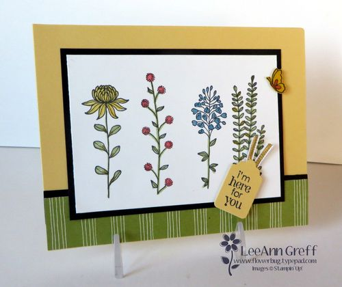 Jan card buffet Flowering Fields.