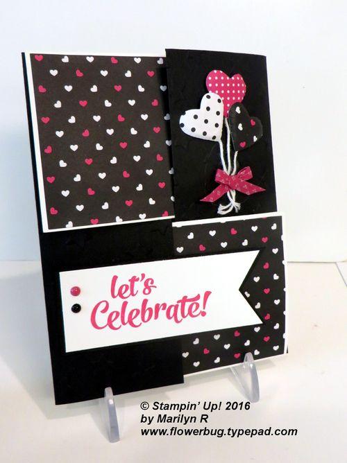 Pop of Pink quarter fold card