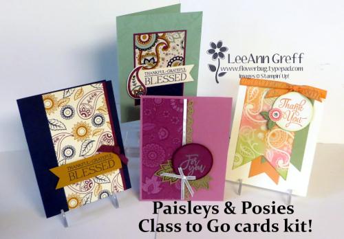 Paisleys & Posies cards