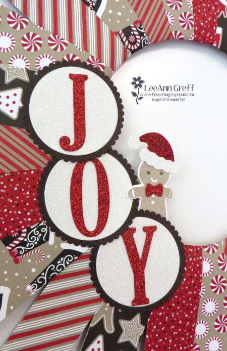 Candy Cane Lane wreath Joy