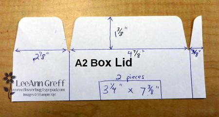 Gift bag punch board box lid...