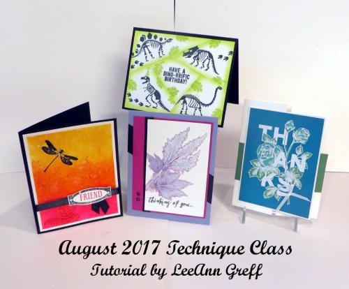 August 2017 tech cards