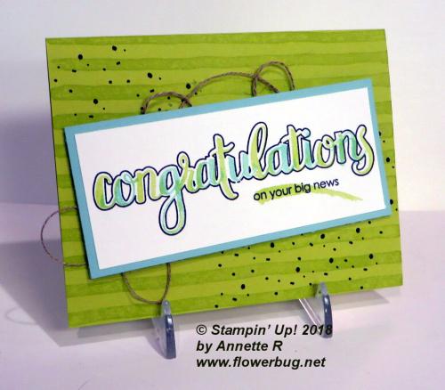 Amazing Congratulations Annette