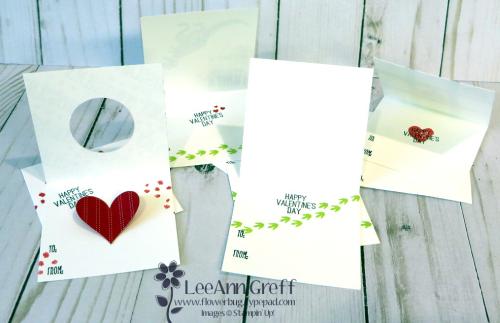 Valentine cards inside