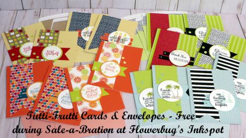 Tutti Frutti cards and envelopes