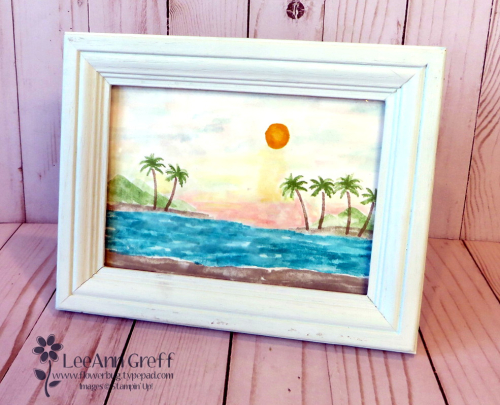 Waterfront framed art