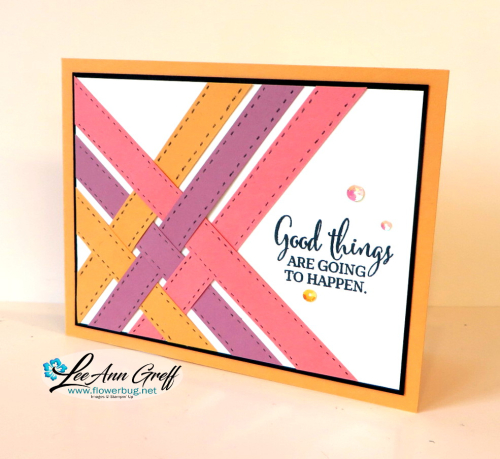 Woven strips card