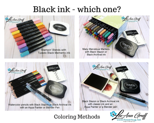 Black ink and coloring methods