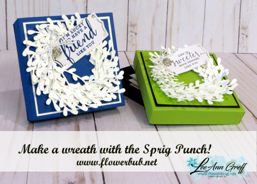 Sprig punch wreaths