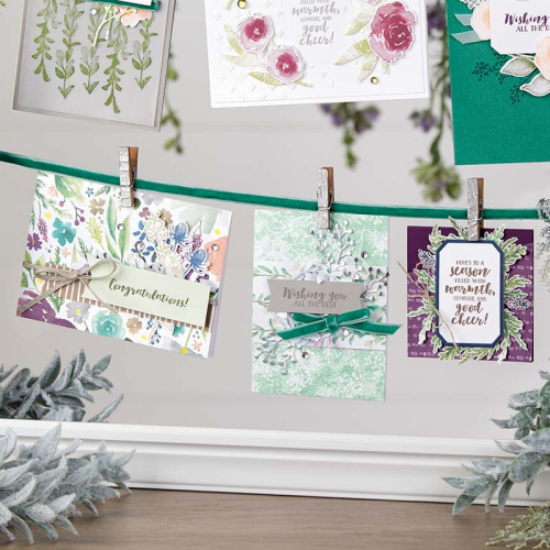 Frosted Floral cards