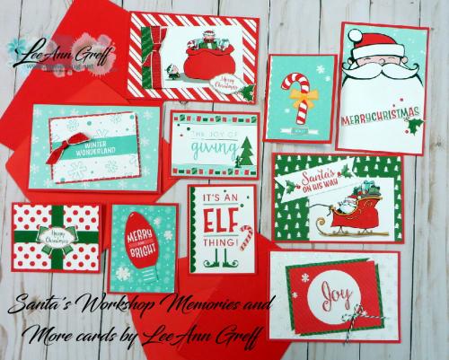 Santa's workshop cards.