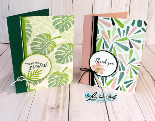 July Tropical Escape cards